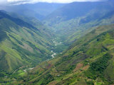 Peru's Monzon River Valley Shows a Patchwork of Coca Fields Photographic Print