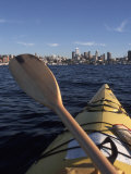 Kayaking on Lake Union, Seattle, Washington, USA Photographic Print by Connie Ricca