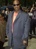 Stevie Wonder Arrives as a Guest at the Ivor Novello Awards at the Grosvenor House Hotel, May 2001 Fotografisk tryk