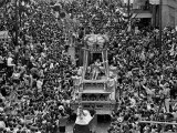 The Float Carrying Rex, King of Carnival, Squeezes Through a Massive Crowd Photographic Print