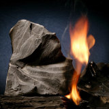 Oil Shale Rock Burns on its Own Once Lit with a Blow Torch Photographic Print