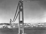 Construction of the Golden Gate Bridge is Well Under Way Photographic Print