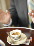 Shot of Espresso in China Demitasse Photographic Print