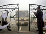 Pakistani Rangers Open the International Gate Between India-Pakistan Photographic Print