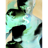 Photographic Negative Image of Man Boxing with Money Symbol Photographic Print