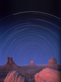 Star Trails Over Desert Landscape Photographic Print by William Swartz