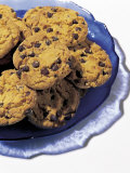Plate of Chocolate Chip Cookies Photographic Print by Greg Smith