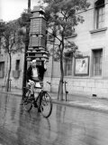 A Delivery Man for a Tokyo Restaurant Photographic Print
