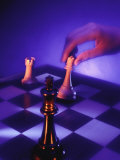 Hand Moving Chess Piece Photographic Print by Frank Cruz