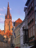 Buildings, Bruges, Belgium Fotografie-Druck von Peter Adams