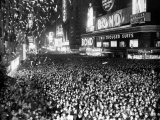 Three Quarters of a Million People Crowd into Times Square Fotografie-Druck