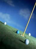 Golf Green, Balls and Flag Marker of Hole Photographic Print by Ernie Friedlander