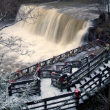 He Falls in the Heart of Chagrin Falls Photographic Print