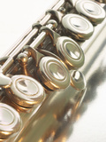 Close-up of Flute Keys Photographic Print