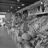 Retail Vegetable Markets Line the Decatur Street Side of the French Market Photographic Print