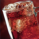 Glass of Cola Drink with Ice Photographic Print by John James Wood