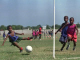 Children from Athletic of Haiti During Daily Training on the Outskirts of Cite Soleil on July 17 Photographic Print