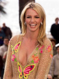 Britney Spears Holds a Photocall in Cannes, France, January 2002 Photographic Print