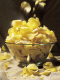 Potato Chips Falling Into Bowl Photographic Print by Greg Smith