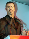 George Michael Collects His Award at the Help a London Child Auction Photographie