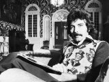 Tony Iommi Lead Singer of Pop Group Black Sabbath at Home Fotodruck