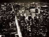 View from the Empire State Building at Night Photographic Print