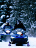 Police Snowmachines, Anchorage, U.S.A. Photographic Print by Mark Newman