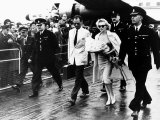 Marilyn Monroe Arriving at London Airport with Husband Arthur Miller, 1956 Photographic Print