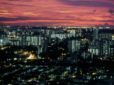 Singapore Sunset Over City Photographic Print