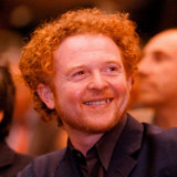 Mick Hucknall Singer with Simply Red Listens to Speech by Tony Blair Labour Party Conference, 1997 Photographic Print