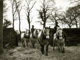 Farmers Riding Their Horses Back to the Stables, 1935 Photographic Print