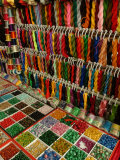 Yarn and Beads are Sold at a Flea Market Photographic Print by Richard Nowitz