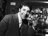 Singer Tom Jones, 27 Years Old, is Britain's Number One Pop Celebrating with Champagne Fotodruck