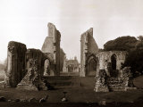 Old Ruined Building Ruins, Glastonbury Abbey in Somerset Photographic Print