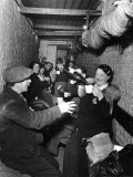 Sheltering Underground During the Blitz Islington London Photographic Print