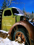 Side of Old Truck in Snow, U.S.A. Photographic Print by Christer Fredriksson