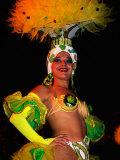 Female Dancer at Centro Nocturno Cabaret, Holguin, Cuba Fotografie-Druck von Christopher P Baker