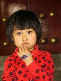 Portrait of a Chinese Girl Reproduction photographique par Richard Nowitz