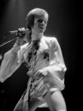 David Bowie Performing on Stage at the Dome Theatre Brighton, Ziggy Stardust, May 1973 Photographic Print