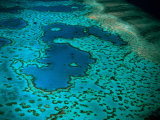 Overhead of Heart Reef, Great Barrier Reef, Australia Photographic Print by Richard I'Anson