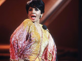 Shirley Bassey Singing at a Gala Performance in Edinburgh Photographic Print