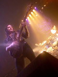 Lemmy from Motorhead Takes to the Stage at Motorhead Concert at Ulster Hall in Belfast, May 2001 Photographic Print