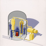 A Painting of an Improved Reactor Design by Pierre Mion Photographic Print by Pierre Mion