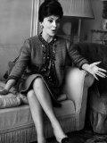 Gina Lollobrigida Italian Actress, Sitting on a Sofa Talking Photographic Print