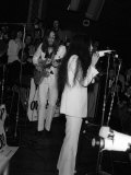 John Lennon Former Beatle and Wife Yoko Ono, Performing on Stage at the Lyceum, December 1969 Photographic Print