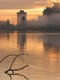 Misty Sunrise on Waterfront, Stanley Park, Vancouver, Canada Photographic Print by Lawrence Worcester