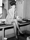 Dusty Springfield Sitting on a Table Photographic Print