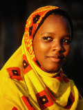 Portrait of Young Girl, Bagamoyo, Tanzania Photographic Print by Ariadne Van Zandbergen