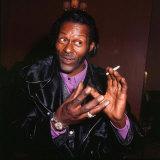 Chuck Berry Singer Songwriter, January 1973 Fotografisk tryk
