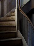 Winding Staircase with Banister in an Old Mansion Photographic Print by Todd Gipstein